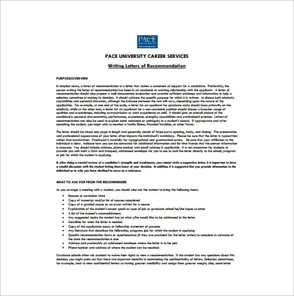 Sample College Recommendation Letter For A Colleague   Cover