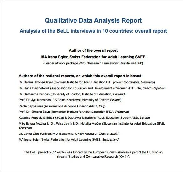 Doc694951 Analysis Report Format Doc694951 Analysis Report – Data Analysis Format