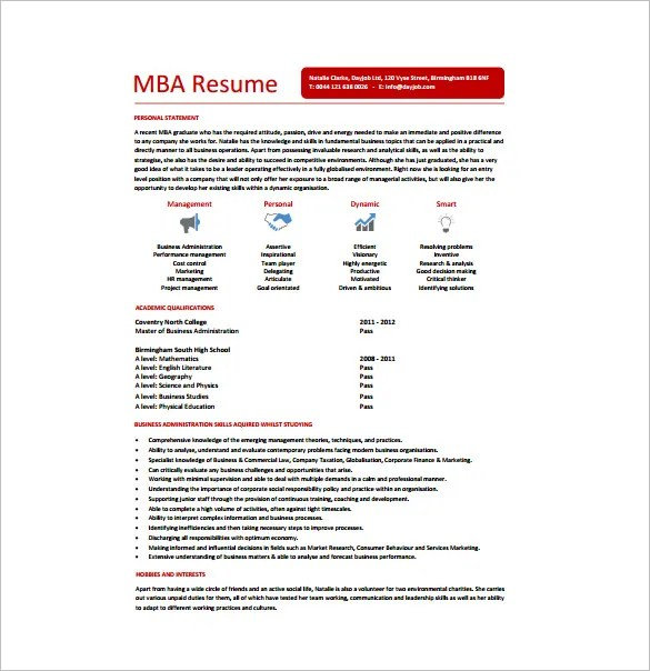 stunning mba student resume gallery simple resume office