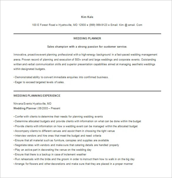 Event Planner Resumes. Events Manager Resume Example Sample Event
