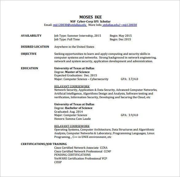 certification on resume examples - Gidiye.redformapolitica.co