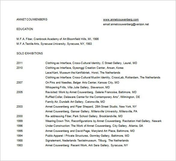 fashion designer resume template 8 free word excel pdf format