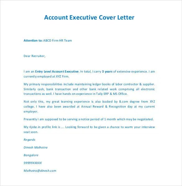 Cover Letter Sle Of An Executive Istant Looking To Land A Job In The Industry