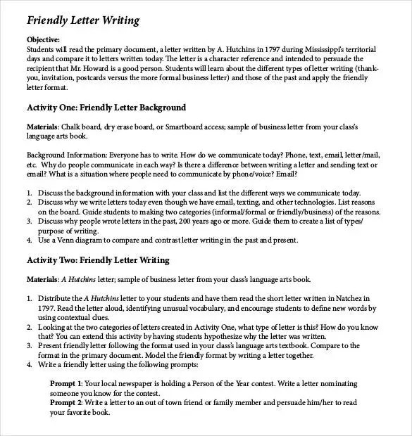 how to write a letter to a busy perosn