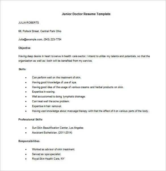 Resume Sample Doctor Customer Service Format In Medical Field Example For Administrative