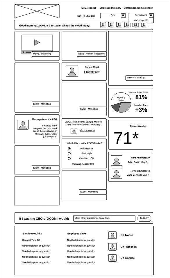 21 Great Examples Of Wireframes Free Premium Templates