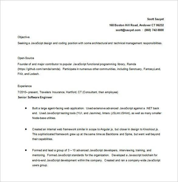 Java Developer Resume Template 11 Free Word Excel Pdf Ps  Java Developer Resumes