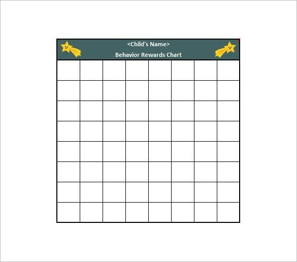 Behavior Chart Template 12 Free Sample Example Format