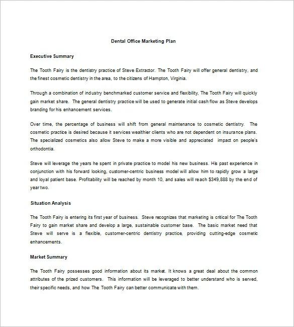 marketing plan customer analysis
