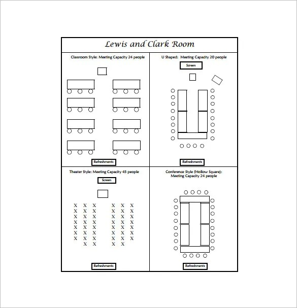 Classroom Seating Chart Template FREE DOWNLOAD - Seating chart template word