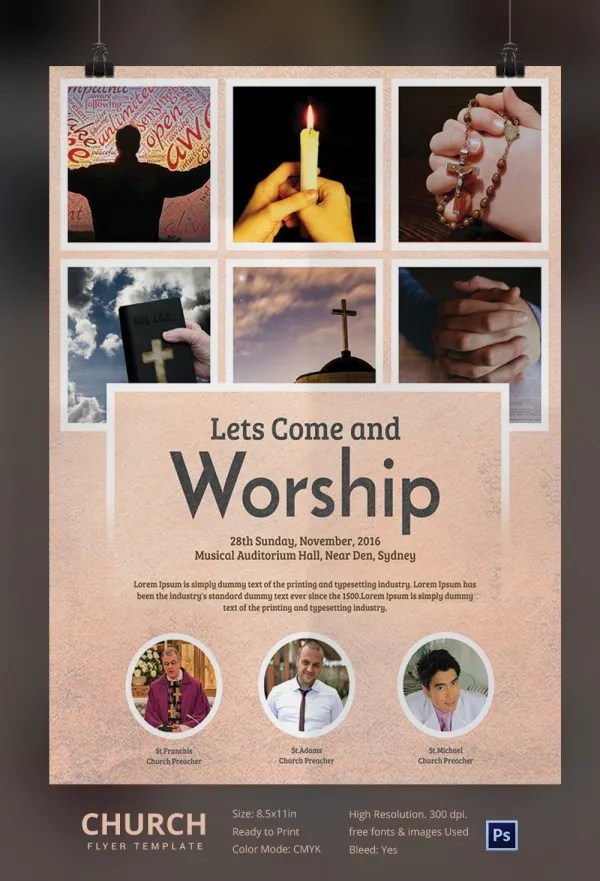 Church Flyers 26 Free PSD AI Vector EPS Format Download Free Amp Premium Templates