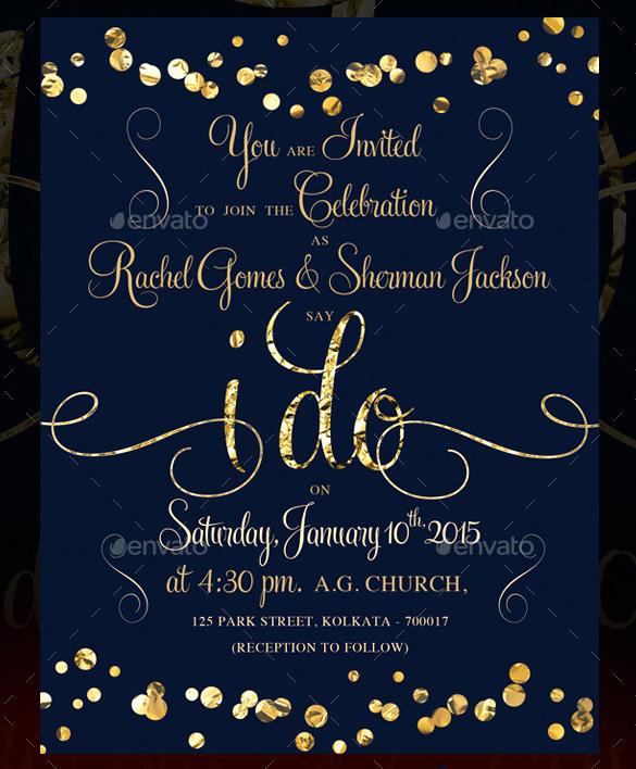 Sunflower Wedding Invitation- PSD, JPG Format Download