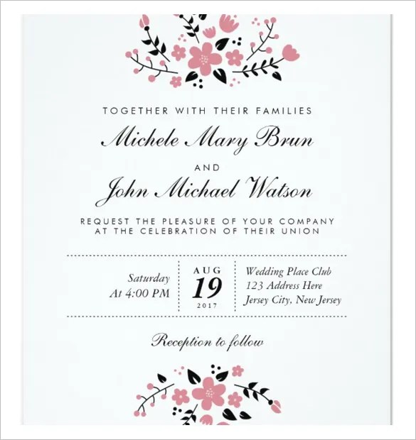 Modern Wedding Invitation Wording From Bride And Groom