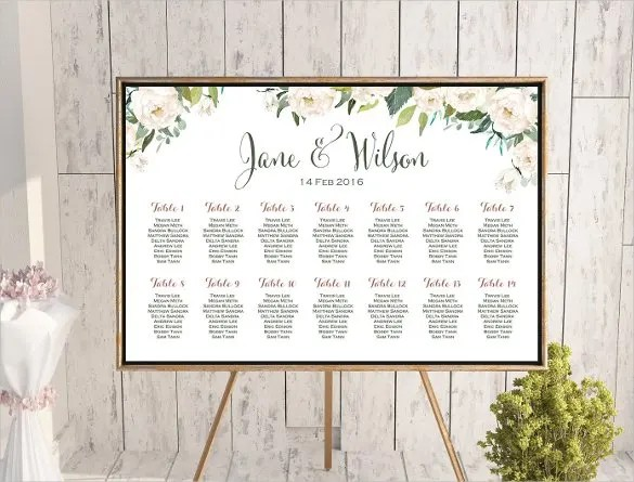 34 Wedding Seating Chart Templates PDF DOC Free Amp Premium Templates