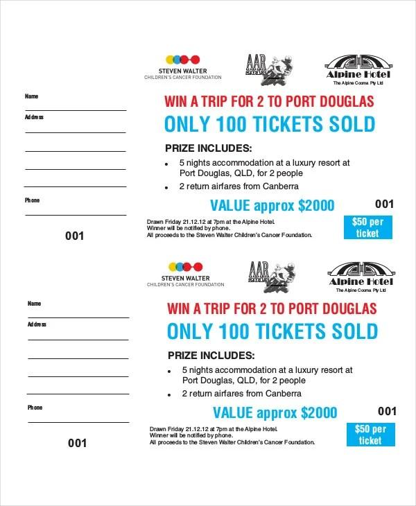 21 Printable Raffle Ticket Templates Psd Ai Word