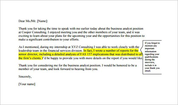 follow up email example after phone interview
