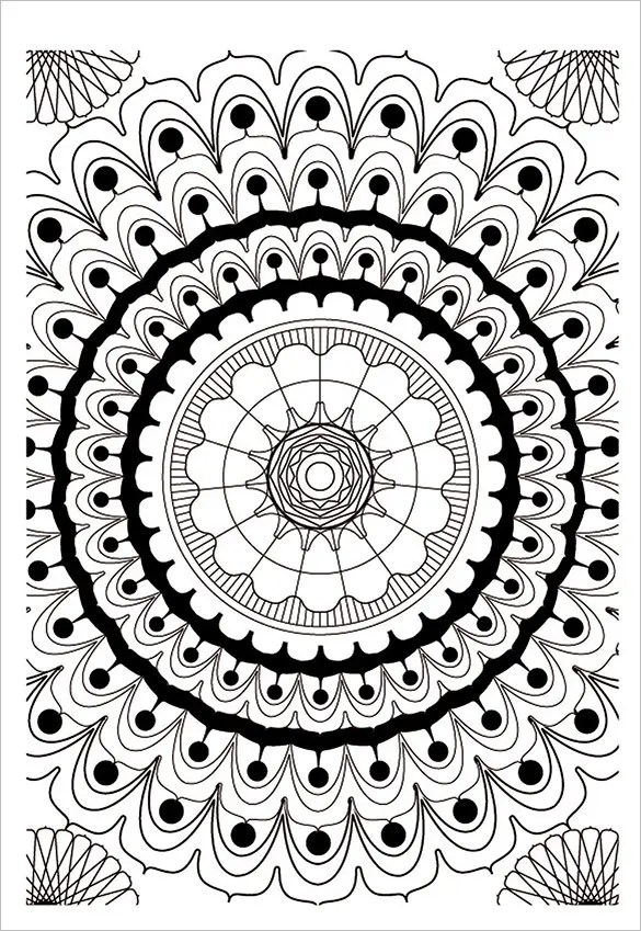 mandala color pages # 64