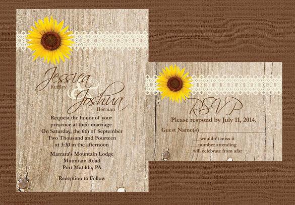 Rustic Wedding Invitation Template 25 rustic wedding invitation – Free Printable Rustic Wedding Invitations