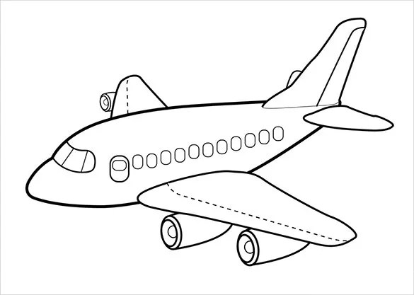 21 airplane coloring pages free word pdf jpeg png format