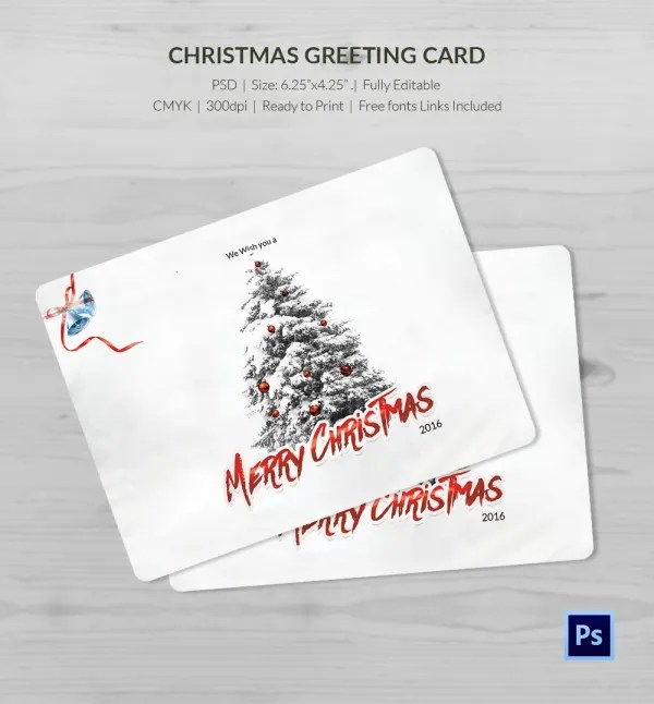 21 Christmas Greeting Cards PSD Format Download Free