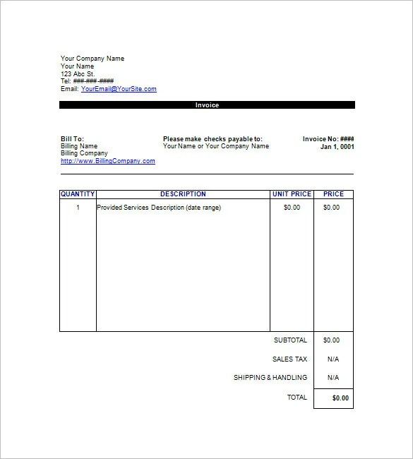 Google Invoice Template 31 Free Word Excel Pdf Format