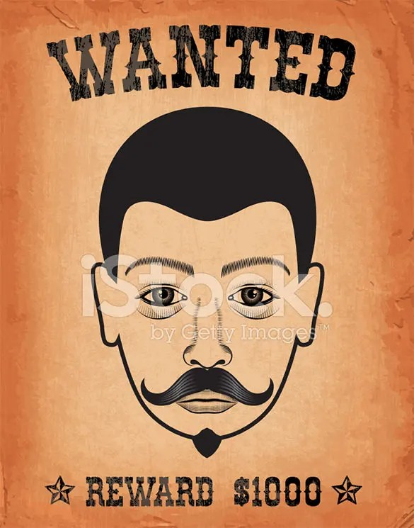 Sample Wanted Poster Template. Download Our Free Poster Templates