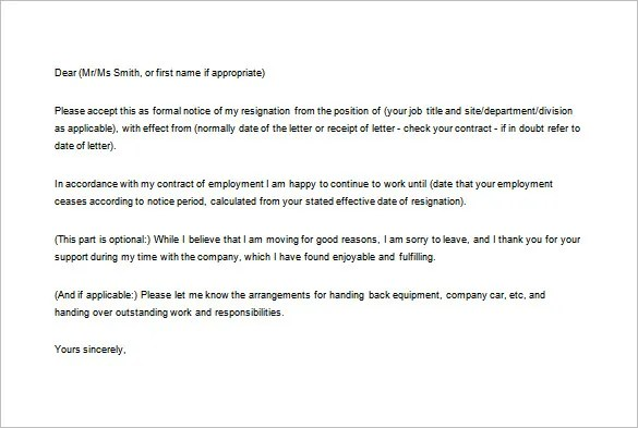 sample template effective immediately formal resignation letter sample