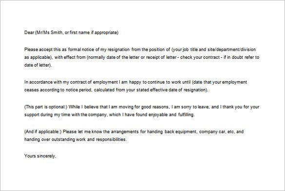 Resignation Letter Cc Hr Manager - Cover Letter Templates