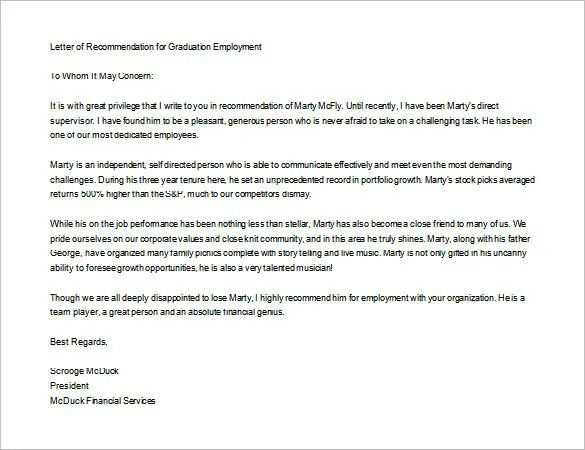 How To Write A Letter Of Recommendation For An Employee Template – Letter of Personal Recommendation
