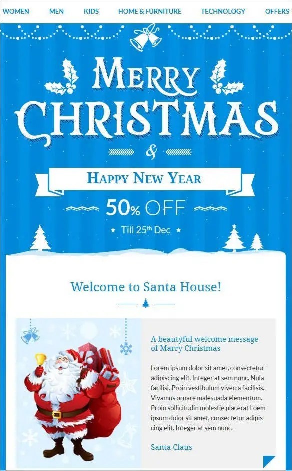 41 Christmas Email Newsletter Templates Free Psd Eps Ai