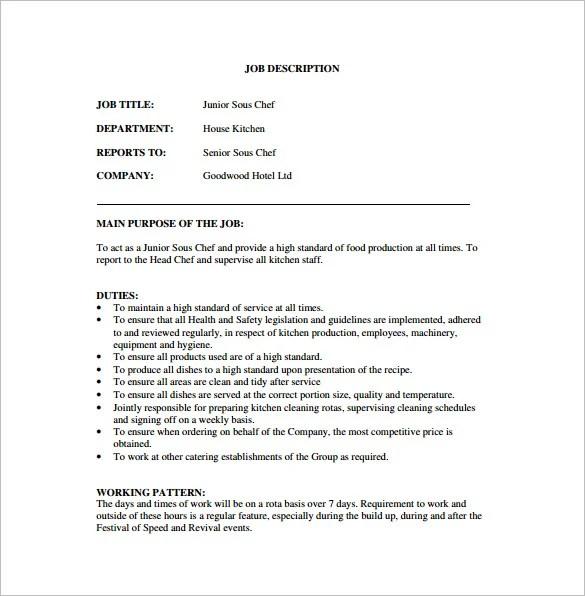 Fry Cook Job Description. 30 14 Chef Job Description. Chef Job