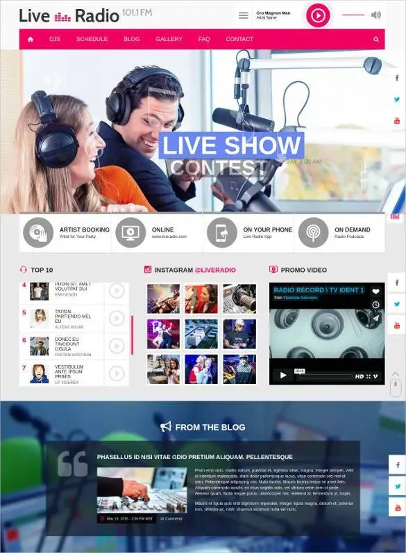 29 Radio Station Website Themes Amp Templates Free Amp Premium Templates