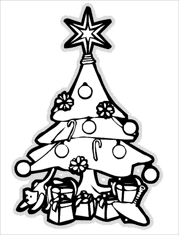 coloring pages of christmas trees # 70