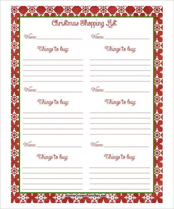 Xmas List Template. Christmas Wish List 2016 Christmas Day. Card