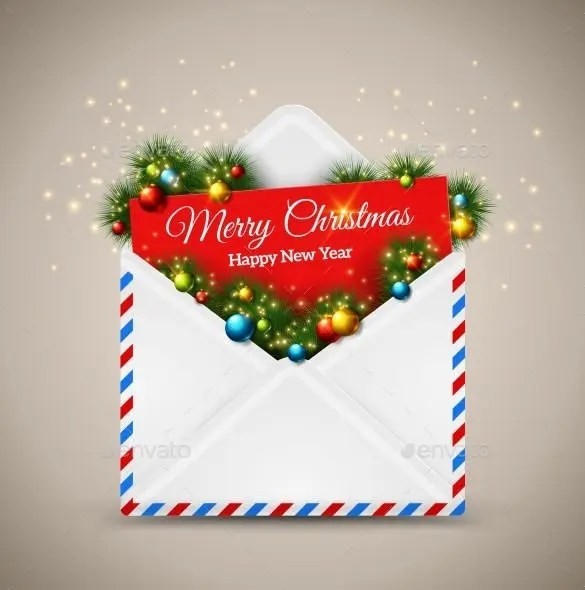 89 Christmas Envelope Templates Free PSD EPS Ai