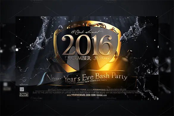 26  New Year Flyer Templates     Free PSD  EPS  Indesign  Word Format     New Years Eve Flyer Template Premium PSD Download