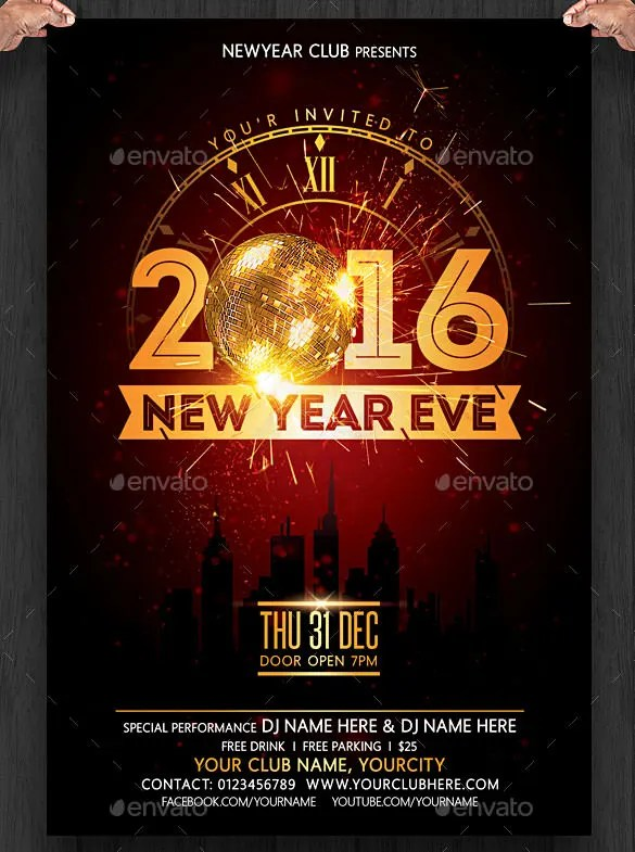 New Years Eve Template note free new year s eve flyer template is – Free New Years Eve Flyer Template
