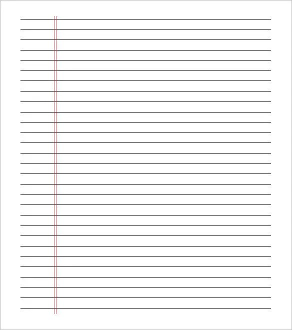 report template printable lined paper 8 1 2 x 11 free 24274