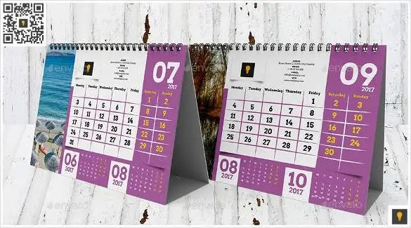 2016 Calendar Template     46  Free Word  PDF  PSD  EPS  AI     2017 desktop calendar template indesign indd downl