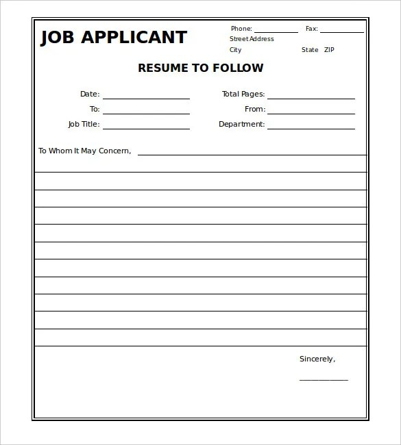 Sweet Looking Fax Cover Letter Doc 6 Ready To Send Sheet Sheets