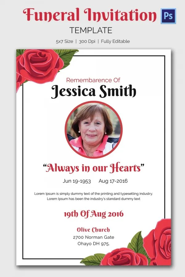 Doc600900 Funeral Announcement Template Free 15 Funeral – Invitation for Funeral Ceremony