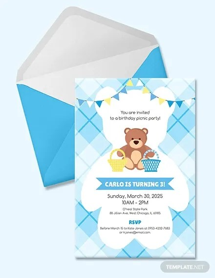 26 picnic invitation templates psd