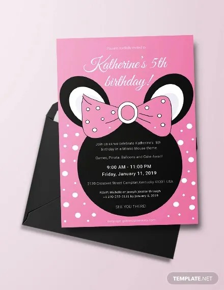 26 minnie mouse invitation templates