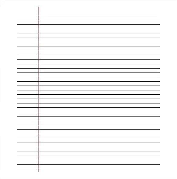 Paper With Lines Template paper template printable writing paper – Free Printable Lined Writing Paper