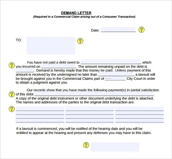 Demand Letter Templates 11 Free Word Pdf Google Docs