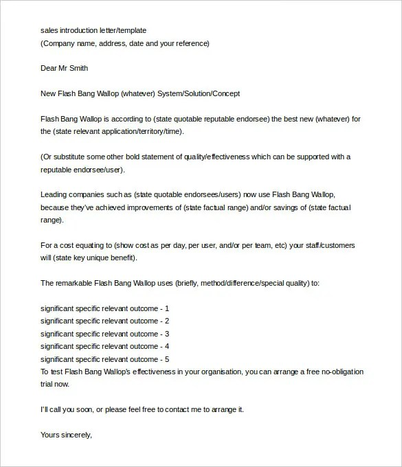 Service Introduction Letter Pdf - Cover Letter Templates