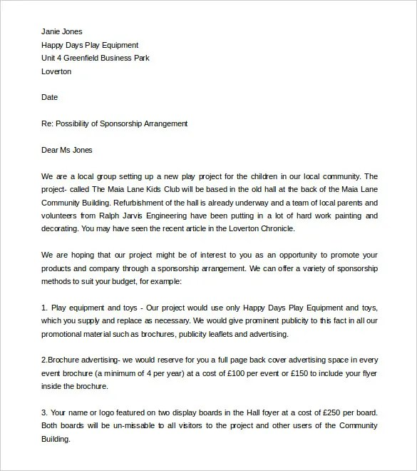 Fundraising Letter Template 7 Free