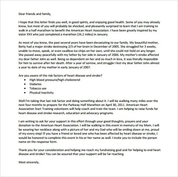 Fundraising Letter Non Profit Thank You Letter Template Docoments