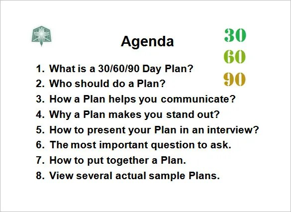 Day Planning Template. 30 60 90 day plan template 18 free word pdf ...