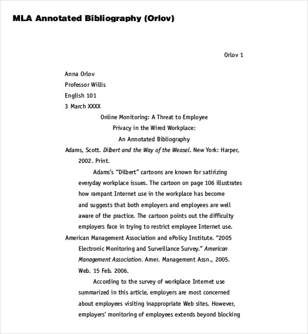 MLA Citation and/or MLA annotation?